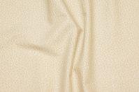 Sandfarvet patchwork-bomuld med beige minimønster