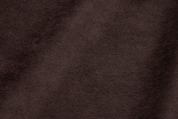 Smalriflet mørkbrun polyester-fløjl