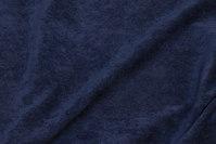 Smalriflet polyester buksefløjl i marineblå