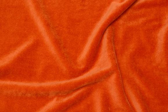 Strækvelour i brændt orange