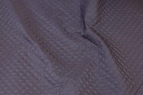 Gråbrun foer-quilt, 1,5 cm tern