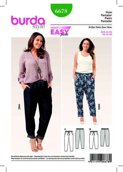 Bukser med elastisk talje, lommer