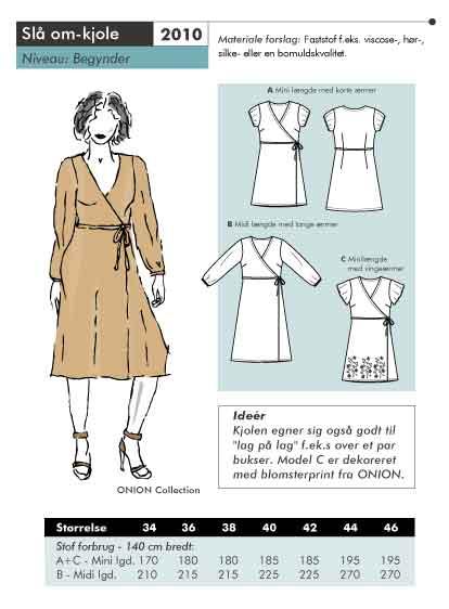 Slå om-kjole
