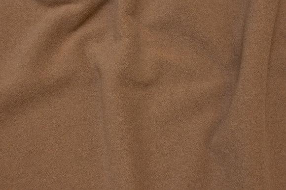 Camel uld- frakkevelour