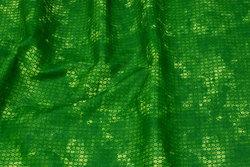 Fast, flammet lys grøn bomuld med lille mønster