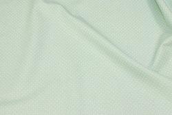 Sart mintgrøn bomuld med hvid miniprik