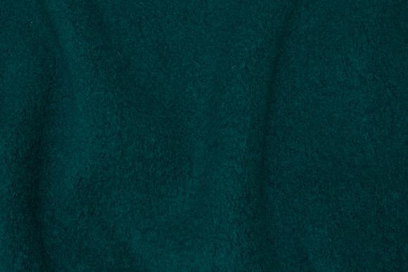 Flaskegrøn filtet uld