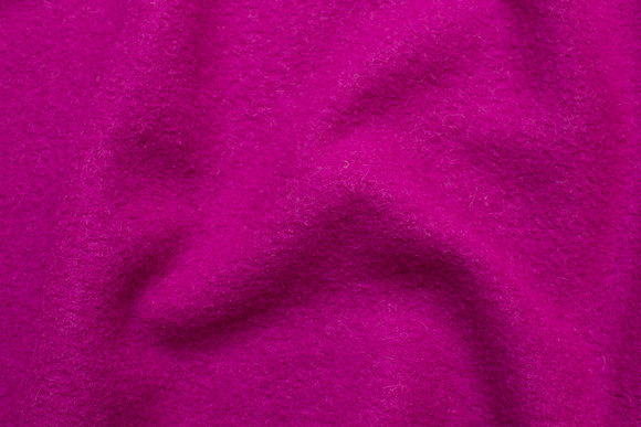 Fuchsia lilla uldbouclé til frakker