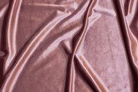 Gammelrosa, blank stretch-velour
