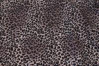 Grå polyester mousselin med svagt lilla skær