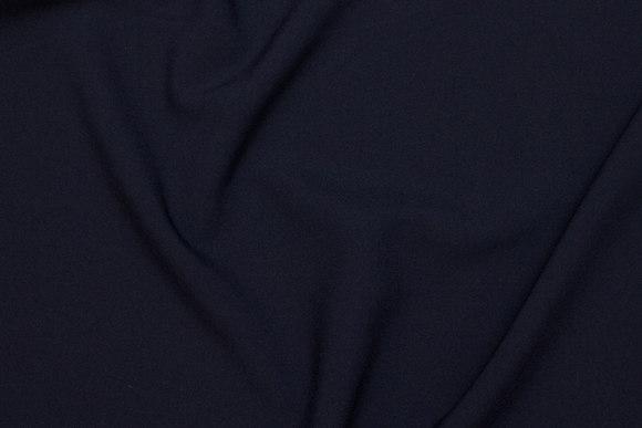 Polyester bi-stretch i mørk marine