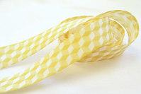 Skråbånd romber gul 2cm