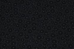 Sort patchwork-stof med gråt cirkelmønster