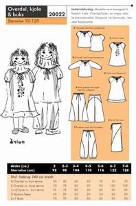 Overdel, kjole og buks. Onion 20022.