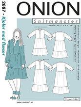 Kjoler med flæser i tunikadesign. Onion 2087.