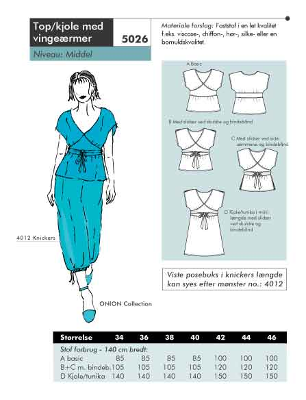 Top og kjole med vingeærmer