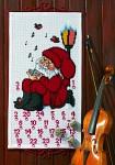 Permin 34-1235. Hvid pakkekalender med syngende Julemand.