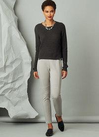 Bukser med sømdetaljer, Marcy Tilton. Vogue 9284.