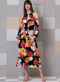 Kjole med tilpasset form. Vogue 9296.