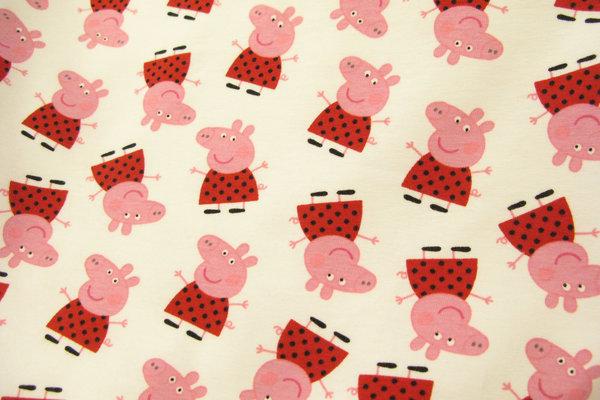 Gurli gris på hvid bomuldsjersey