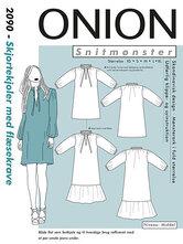 Skjortekjoler med flæsekrave. Onion 2090.
