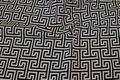 Sort hvid græsk mønstret møbelstof