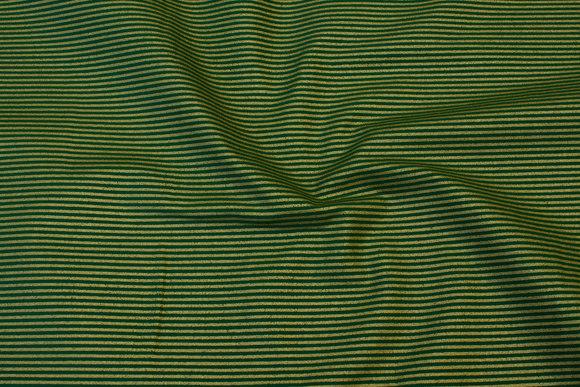 Grøn bomuld med 2 mm guldstriber