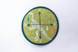 Kompas strygemærke kiwigrønt 4,5 cm