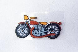 Motorcykel strygemærke 6x2cm