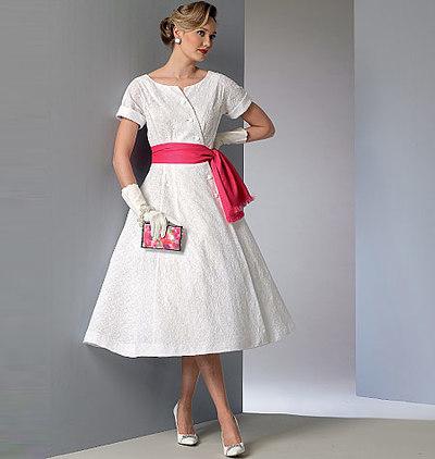 Kjole og Skærf, Vintage Vogue