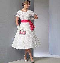 Kjole og Skærf, Vintage Vogue. Vogue 9105.