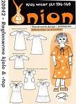 Onion 20042. Raglanærmer kjole og top.