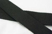 Bomuldsgjordbånd 3 cm sort