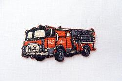 Brandbil strygemærke 7x3cm