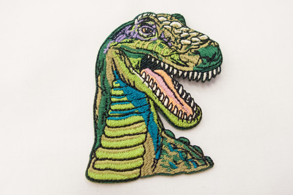 Dino strygemærke 7 x 5 cm