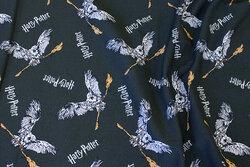 Dyb mørkgrøn bomuldsjersey med Harry Potter motiver