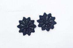 Flakon strygemærker sorte 2stk, 2cm