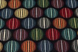 Flot møbel-gobelin med cirkelmønster