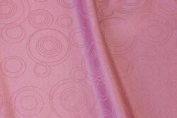 Gl.rosa dugestof med cirkelmønster