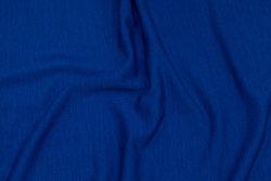 Helt let jersey i coboltblå uld og acryl med stræk