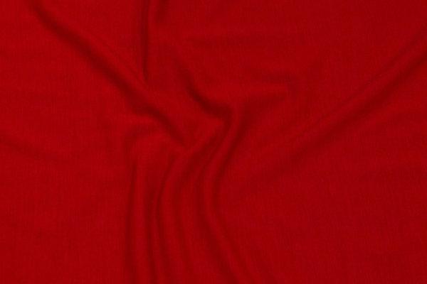Helt let jersey i rød uld og acryl med stræk