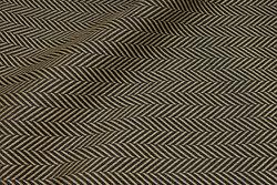 Kraftig møbelvare i sort og camel sildebensmønster