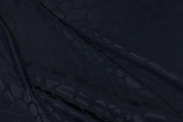 Let jacquard-satin med stretch i mørk marine