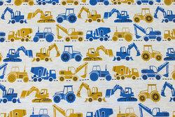 Lys meleret beige med ca. 5 cm traktorer