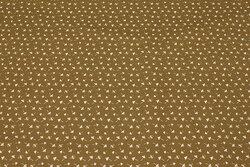 Lysebrun bomuld med små hvide paddehatte