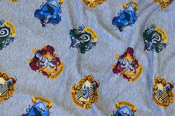 Meleret grå bomuldsjersey med Harry Potter motiver