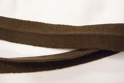 Mørk brun kantebånd ca. 3 cm bredt