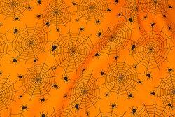 Orange bomuld med edderkoppespind