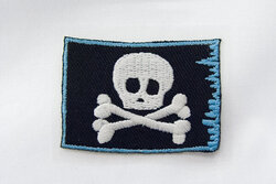 Piratflag strygemærke 5x3,5cm