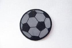 Refleks strygemærke fodbold Ø5cm